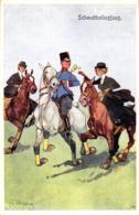 Soldat Mit Damen, Reiter, Sign. Schönpflug - Schönpflug, Fritz