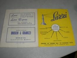 DEPLIANT ORARIO LAZZI 1972 - Dépliants Turistici