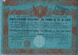 AUTRICHE-CHEMINS DE FER DE L'ETAT.  VIENNE  1867 - Actions & Titres