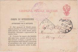 1912 CARTOLINA FRANCHIGIA Corpo Spedizione Libia Viaggiata - Libye