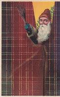 Santa Claus - 2 Embossed Cards - Santa Claus Is Looking Behind The Curtain - 1913      (A-188-191016) - Santa Claus