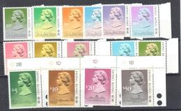 Hong Kong Complete Set Type I 1987 110 Euros Mnh ** - Hong Kong (...-1997)