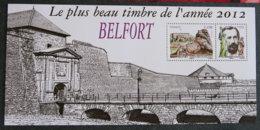 FRANCE - 2013 - YT BS 89 ** - LE PLUS BEAU TIMBRE DE L ANNEE 2012 - BELFORT - Feuillet Seul - Souvenir Blokken