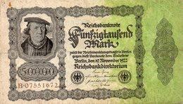 Funfzigtaufend Mark - Berlin, Den 19. November 1922 - 5000 Mark