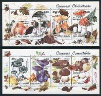 ROMANIA 1994 Fungi Blocks MNH / **.  Michel Block 292-293 - Blocks & Kleinbögen