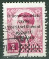 Lubiana    Sassone  22  Ob  TB - Occupation 2ème Guerre Mond. (Italie)
