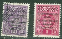 Lubiana   Taxe  Sassone  11 Et 12  Ob  TB - Occupation 2ème Guerre Mond. (Italie)
