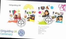 Great Britain FDC 2010 Girguiding UK Centenary Souvenir Sheet (LB5) - Padvinderij