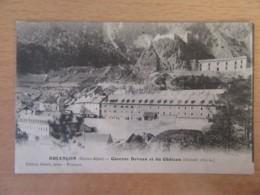 CPA Briançon Vers Vienne (Isère) - Caserne Deveau Et Du Château - Taxe 10c - 1913 - Briancon
