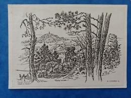 Paysage Vesulien Sabot Et Motte A. Mourey Carte Dessin Haute Saône Franche Comté - Vesoul