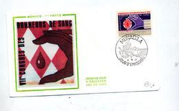 Lettre Fdc 1971 Don Du Sang - FDC