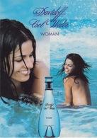 "PUBBLICITA' ADVERTISING CARTOLINA CITRUS N°76 - ""DAVIDOFF COOL WATER"" - WOMEN - Advertising"