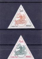 Monaco - Taxe - 1982 - N° YT 71 à 72** - Postage Due