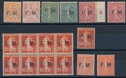 DI-468: FRANCE: Lot Avec FM N°11/5*-bloc 2ème Choix De Gomme Non Compté-6/6a* Gomme 2ème Choix - Franchise Militaire (timbres)