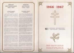 HERDENKINGSKAART -CAMPAGNE 42STE ANTITERING-ANTITUBERCULOSE -1966/1967 - Cartes Souvenir