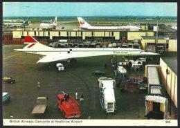 PC  C.Skilton Series-285-British Airways Concorde At Heathrow Airport. Unused - Aérodromes