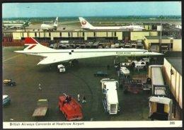 PC  C.Skilton Series-285-British Airways Concorde At Heathrow Airport. Used +stamp 1977 - Aérodromes