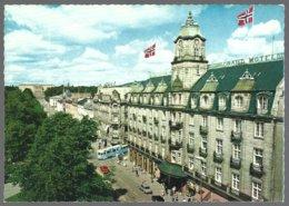 PC  Mittet -1300/22- Norway,Oslo , Karl Johan Avenue, Grand Hotel,tram . Unused - Norvège