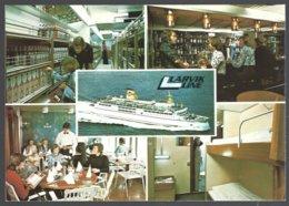 PC  AUNE M-7921-6- Norway, Larvik  Line Multiwiews,the Ferryboat M/F Peter Wessel.  Unused - Ferries