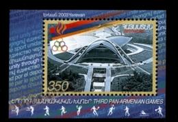Armenia - Arménie 2003 Yvert BF 20, Sports. 3rd Pan-Armenian Games - Miniature Sheet - MNH - Armenia
