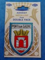 Port Sur Saône écusson De La Ville Adhésif Mettalisé Double Face  Haute Saône Franche Comté - Altri Comuni
