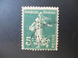 Perforé  Perfin  Référence Ancoper France  :   AS175 - Perfins