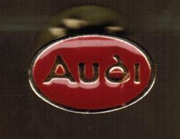 """Pins """"AUDI"""" In Metallo Smaltato Rosso - Formato Mm.19x13--------------(lotto 515E) - Audi"""