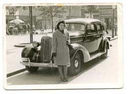 Zagreb Cvjetni Trg Woman In Front Of A Car Old Photo 194? B200225 - Croatia