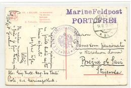 Austria WWI Guillaume: The Late Ones Postcard Posted 1915 MarineFeldpost K.u.k. Marine-Sanitätsabteilungskommando Pola - Croatia