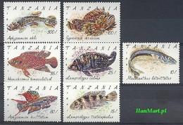 Tanzania 1991 Mi 1040-1046 MNH ( ZS4 TNZ1040-1046 ) - Peces