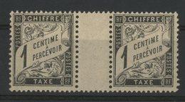 TIMBRE TAXE Cote 8 € N° 10. Paire Du 1ct Avec Pont Central. TB - 1859-1955 Mint/hinged