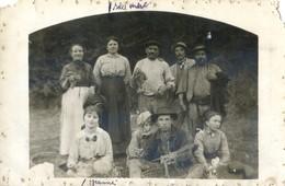 Carte Photo - Un Groupe De Vendangeurs à Localiser - Viñedos