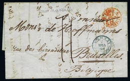 GREECE Complete Letter 1851  AOHNAI  Athens -> Brussles - Griechenland