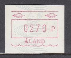 Aland 1990 - ATM - Wellenlinien Und Spiralen, Mi-Nr. 4, 1 W., MNH** - Ålandinseln