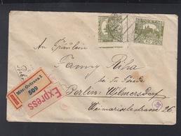 CSR Expresbrief 1920 Mor. Ostrava Nach Berlin Geöffnet - Czechoslovakia