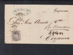 Spanien Brief Gijon Weitergeleitet - 1889-1931 Königreich: Alphonse XIII.