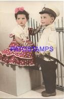 130184 REAL PHOTO COSTUMES DESGUISE CARNIVAL MAJA SPAIN & SOLDIER NO POSTAL POSTCARD - Photographs