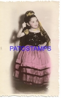 130187 REAL PHOTO COSTUMES DESGUISE CARNIVAL OLD LADY NO POSTAL POSTCARD - Photographs