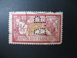 Perforé  Perfin  Référence Ancoper France  :    BP155 - Perfins