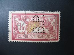 Perforé  Perfin  Référence Ancoper France  :    BP155 - Perforés
