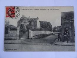 CPA  28  CHARTRES Faubourg Saint-Chéron Vue Prise Au Carrefour 1914 Animée   TBE - Chartres