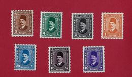 Egypte Egypt 1936/37 King Fuad Complete Set Mh - Égypte