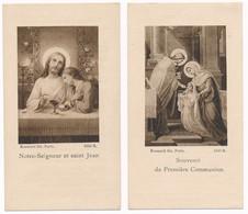 Heule / 2x Devotieprent / Edition Boumard Fils - Paris / Ca. 1920 - Devotieprenten