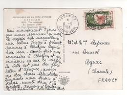 "Beau Timbre , Stamp "" Antilope Bongo  "" Sur Cp , Carte , Postcard  Du 09/09/1964 - Costa D'Avorio (1960-...)"