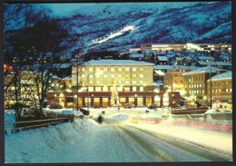 PC  AUNE F-7485-4- Norway, Narvik  Part Of The Town By Night.  Unused - Norvège