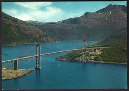 PC  AUNE F-4287-9- Norway, Narvik  Suspension Bridge Across Rombakken. Unused +stamp Affixed (*) Yv 545 - Norvège