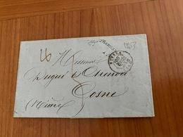 LAC 1853 DE NEVERS POUR COSNE  ( Port Offert ) - 1849-1876: Klassieke Periode
