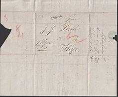 Mähren Altbrief 1832 BRÜNN Nach Steyr Rötelvermerk Mit Viel Text, Brno - Briefe U. Dokumente