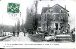 N°4127 T -cpa La Varenne Saint Hilaire -le Restaurant Du Matelot Et Le Quai De La Varenne- - Otros Municipios