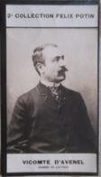 """Georges D' Avenel Né à Neuilly-sur-Seine - Historien  """"Revue Des Deux Mondes"""" - 2ème Collection Photo Felix POTIN 1908 - Félix Potin"""